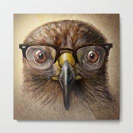 Hipster Eagle Metal Print