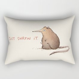 Just Shrew It Rectangular Pillow