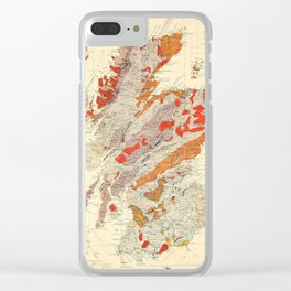 Vintage Scotland Geological Map (1865) Clear iPhone Case