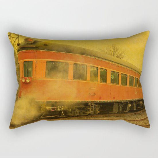 CHRISTMAS STEAM TRAIN Rectangular Pillow