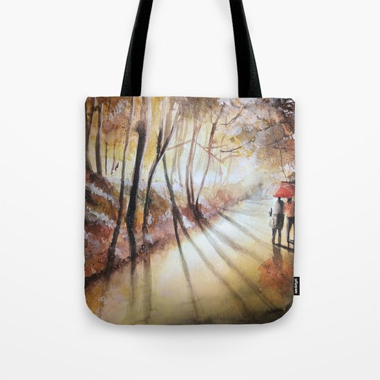 Break in the clouds - watercolor Tote Bag