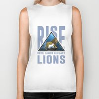 lions Biker Tanks featuring Rise Lions  by Ryan Chan