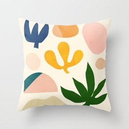 Abstraction_Floral_001 Throw Pillow