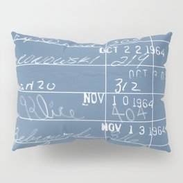 Library Card 23322 Negative Blue Pillow Sham