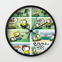 minion Wall Clocks featuring Minion by Duitk