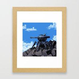 Mountain Sentinel Think Tank Framed Art Print