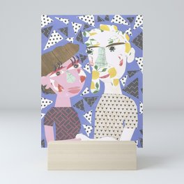 lovers collage. Mini Art Print