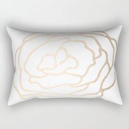 Flower in White Gold Sands Rectangular Pillow