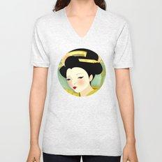 Geisha: Olive Unisex V-Neck