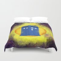 tardis Duvet Covers featuring The TARDIS by Mirco