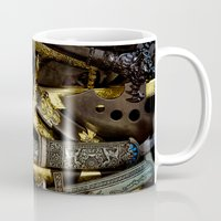 arsenal Mugs featuring  Collage - Daggers, Dirks and Sabres by digital2real