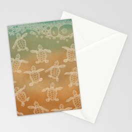 Baby loggerhead turtles Stationery Cards