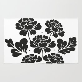 Black roses bouquet Rug