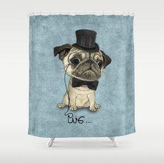 Pug; Gentle Pug (v3) Shower Curtain