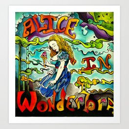 Alice in Wonderbra  Art Print