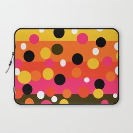 Earth and Summer Sky - Color Strips with Circles Laptop Sleeve
