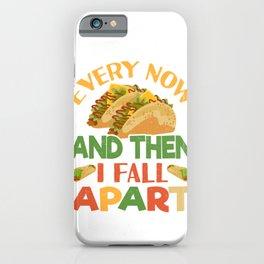 Taco Funny Mexican Food Feista Cinco De Mayo iPhone Case