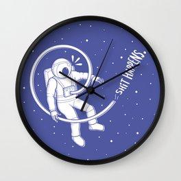Astronaut's shit Wall Clock