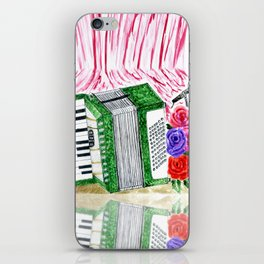 Accordion with roses iPhone Skin