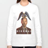 birdman Long Sleeve T-shirts featuring The Birdman by RobHansen