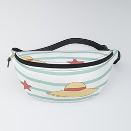 cute summer hats seamless pattern background Fanny Pack