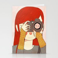 nan lawson Stationery Cards featuring Behind The Lens by Nan Lawson