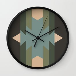 Green Star  - does it belong in the Forest or in the Space?? Wall Clock