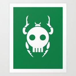 Skull Bugs Art Print