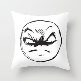 face of weird Throw Pillow