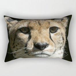 Cheetah Portrait Rectangular Pillow