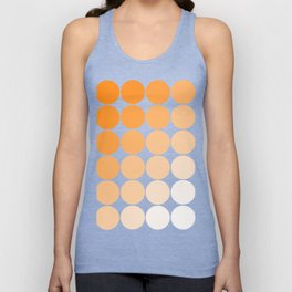 Orange Circle Color Charts Unisex Tank Top