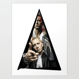 Youtriangle ∆ Eminemm Art Print