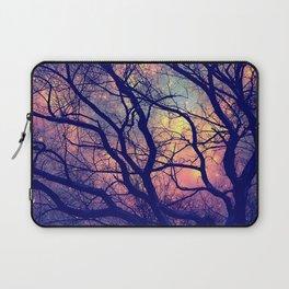 Black Trees Deep Pastels Space Laptop Sleeve