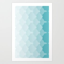 Pattern Gradient Green Art Print