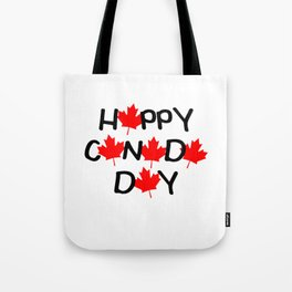 Happy Canada Day Maple Leaf Letters  Tote Bag