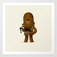 chewbacca Art Prints featuring Chewbacca by Oliver Sin