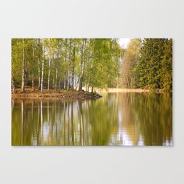 It's almost summer! Reflection Tree Lake #decor #society6 Canvas Print