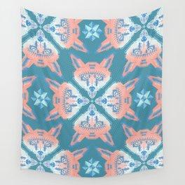 Pastel Fox Pattern Wall Tapestry