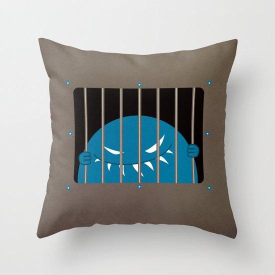Evil Monster Kingpin Jailed Throw Pillow