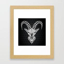 black goat ecopop Framed Art Print