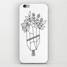 Crystal Flower Bouquet iPhone Skin