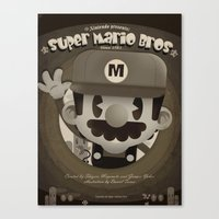 mario bros Canvas Prints featuring Mario Bros Fan Art by danvinci