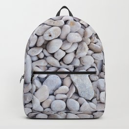 Background from gray sea stones for design Backpack