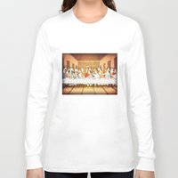 the last unicorn Long Sleeve T-shirts featuring Last Supper Unicorn by That's So Unicorny