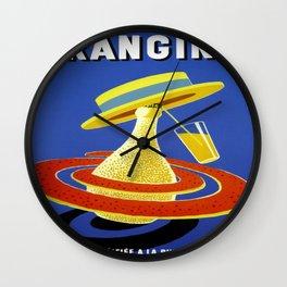 Vintage poster - Orangina Wall Clock