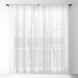Kiss minimal illustration - Gigi Sheer Curtain