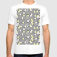 Dewdrops MEDIUM White Mens Fitted Tee