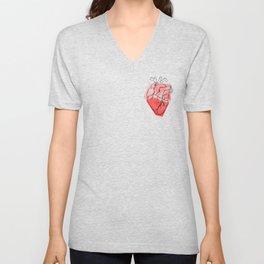 Heart Lines Unisex V-Neck