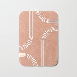 Mid Century Modern 2 - Geometrical Abstract - Minimal Print - Terracotta Abstract - Burnt Sienna Bath Mat