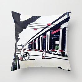 Senju, Suehiro Town - Digital Remastered Edition Throw Pillow